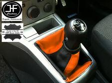 Nero Arancione Per Opel Vauxhall Astra H Mk5 Mkv STICK GEAR Ghetta in pelle