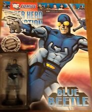 Eaglemoss DC super hero collection Blue Beetle 4 in environ 10.16 cm FIGURE NEW