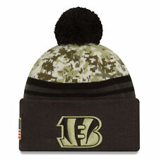 2016 NFL New Era Cincinnati Bengals Camo/Graphite Salute To Service Knit hat