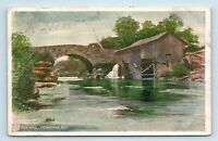 Ferndale, NY - EARLY 1900s VIEW OF OLD MILL BRIDGE & RIVER - POSTCARD - T1
