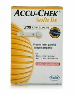 Accu-Chek Softclix Lancets - Pack of 200 Lancets - Expiry 04/2024 Fast delivery