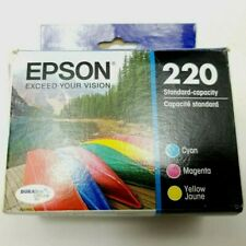 Epson T220520-S (220) DURABrite Ultra Ink Cyan/Magenta/Yellow exp 03/2023