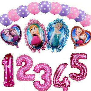 Frozen Olaf Elsa Anna 32'' Age Number Happy Birthday Helium Party Balloons