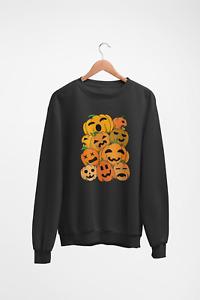 Pumpkin Sweatshirt Jumper Halloween Funny Horror Movie Film