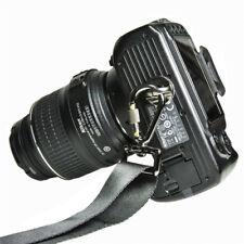 """1/4"""" Quick Release Screw Lock For Camera Shoulder Neck Rapid Strap Belt Black"""