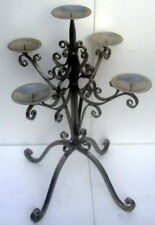 Table Center Piece Candle 5Cup Nickle Plated Iron 72X52X52cm