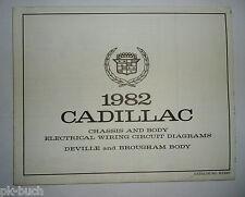 Elektrischer Schaltplan / Wiring Diagram Cadillac DeVille and Brougham Body 1982