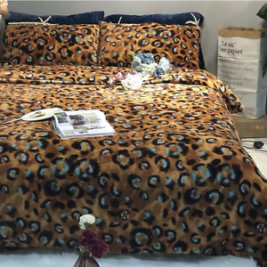 2021 Large and large coffee gold pattern printing household bedding set 4PCS