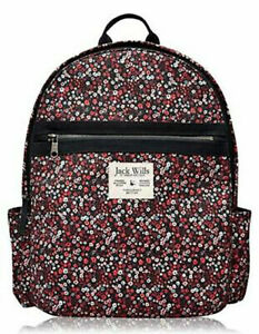 Jack Wills Portbury Backpack Navy and Floral School Women Child Brand New