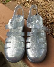 Jelly Glitter Chunky Heels Shoes