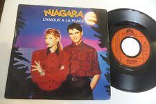 """NIAGARA 45T L'AMOUR A LA PLAGE / LES AMANTS. 7"""" POLYDOR FRANCE."""