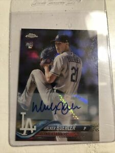 Walker Buehler 2018 Topps Chrome Update Auto Autographed RC Rookie Card Dodgers