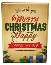 Tin Sign XXL Christmas Retro  Merry Christmas