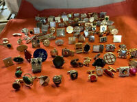 Vintage Lot /90 +Pcs. Singles Men's Jewelry Cuff Links, Tie Tacks For Parts