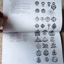 WW1 & WW2 750+ British Army Cap Badge Collectors Identification Reference Book