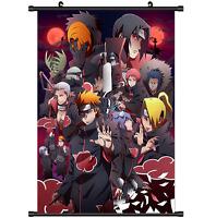 Hot Anime Naruto Akatsuki home decor Wall Scroll Poster cosplay s2710