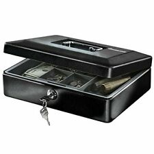 SentrySafe CB-12 Cash Box with Money Tray and Key Lock 0.21 cu Feet Black