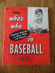 1960 WHO'S WHO IN BASEBALL DON DRYSDALE 45TH EDITION LOS ANGELES DODGERS