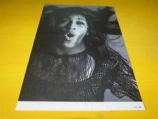 TINA TURNER - Mini poster Noir & blanc !!! Au verso : THE KINKS !!!