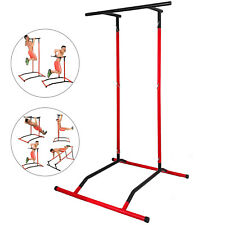Portable Pull Up Dip Station Power Tower Chin Up Bar Steel Stretch Machine Home