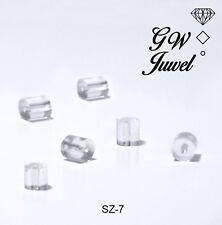 Ohrstopper für Ohrringe Ohrstecker Verschlüsse Kunststoff Transparent  SZ-7
