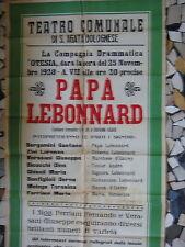 1928-TEATRO COMUNALE DI SANT'AGATA BOLOGNESE-MANIFESTO A COLORI