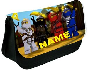 LEGO NINJAGO TEAM  Personalised Pencil Case, make up bag, school any name