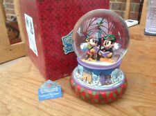 "V V rare disney Tradition huge Xmas Carol Snowglobe boxed 7.5"" Musical/lights Up"