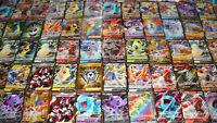 Pokemon 100 Card Lot GUARANTEED V or Vmax & 1 Pack : Sword Shield Ultra Secret