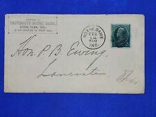 c. 1883 Notre Dame Hon. P.B. Ewing Postal History Cover, Son of Thomas Ewing (?)