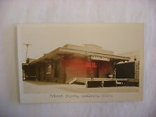 Real Photo Postcard RPPC Frisco Railroad Depot Antlers Oklahoma OK 1930 #1330