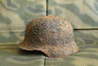 WW2 Original German Combat Helmet M40 !!! NARVA Battlefield RELIC !!!