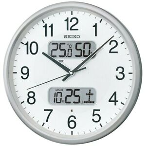 SEIKO Wall clock Radio Wave Analog Silver Metallic KX383S Fast Shipping