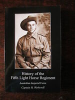 History Australian 5th Light Horse Regiment AIF WW1 5 ALH Gallipoli ANZAC Book