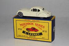 MATCHBOX MOKO LESNEY #32A JAGUAR XK140, WHITE, GPW, NICE, BOXED TYPE C