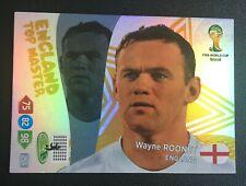 Panini Adrenalyn XL World Cup 2014 Wayne Rooney Top Master card- England Edition