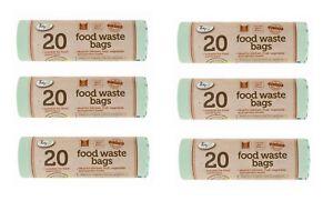 120x Compostable 5L Kitchen Caddy Biodegradable Food Garden Waste Bin Bags