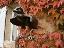 Très belle sculpture contemporaine chasse épervier faucon signé Ajacques Pierre