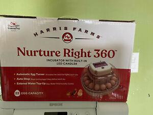 Harris Farms Nurture Right 360 Incubator 22 Egg CP Hatch Chicks 1030121