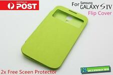 Brand new S-View Window Flip Cover Case for Samsung Galaxy SIV S4 GT-i9500 Green