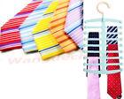 1PC Save Space Necktie Belts Tie Hanger Rack Shawl Scarf Closet Holder Organizer