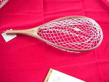 Blue Ribbon Custom Wood Landing Net with Clear PVC Net Bag GREAT NEW