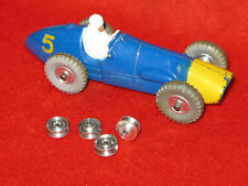 Dinky Toy Spun Alloy, Concave Wheel Hubs,  Lot of 4