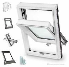 Dachfenster Schwingfenster 66x118 BW aus Holz Weiß lackiert incl.Eindeckrahmen