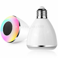 APP Bluetooth Control Smart Music Speaker LED Bulb Light For Android Samsung LG