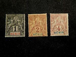BENIN Stamp Set Scott 35-37 Mint Hinged