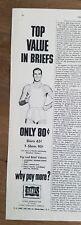 1950 Hanes men's underwear t-shirts Top Value in briefs vintage fashion ad