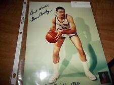 Gene Conley  Signed/Auto New York Knbicks 1962   8 x 10.