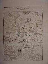 Gravure Carte de la bataille de LUTZEN Lützen le 2 mai 1813