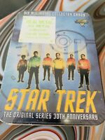 Star Trek 30th Anniversary Metal Cards. 6 Count.  Factory Sealed.